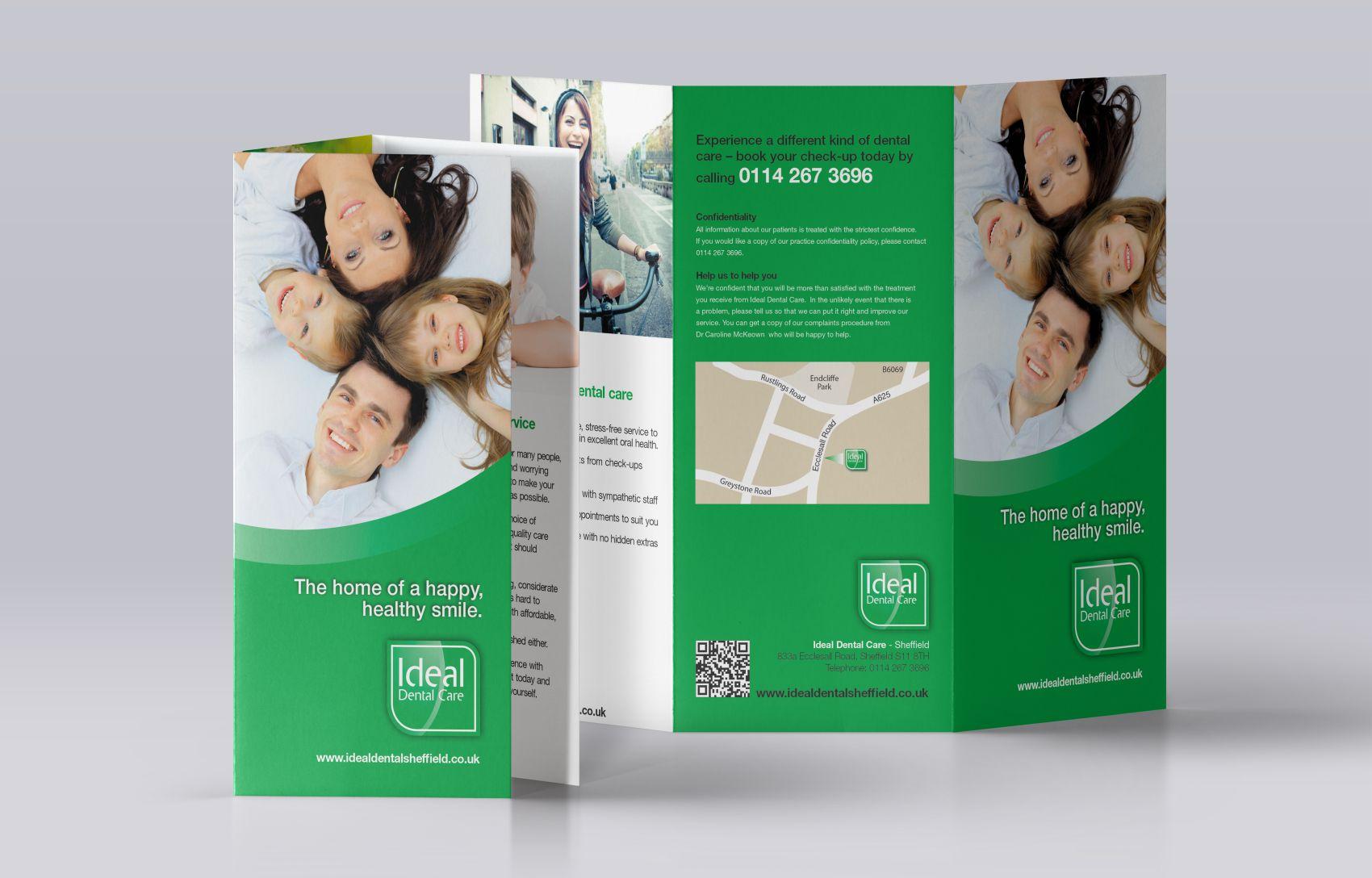 Folded-Leaflet-Mockup-Ideal-Dental