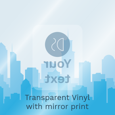 Gloss Transparent Vinyl with Mirror Print