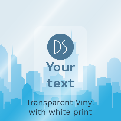 Gloss Transparent Vinyl with White Print