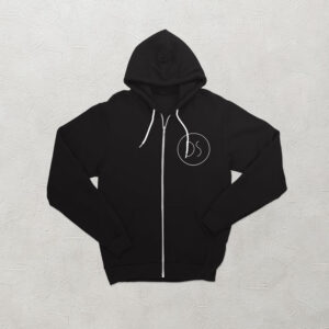 An image showing a black hoodie with the DS Creative logo on the breast.